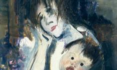 Ю.Тулин. Мать и дитя. Х.м., 85,5х70,5. 1974