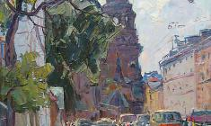 Alexander Semenov. Leningrad Theam. Oil on canvas, 60х50. 1974