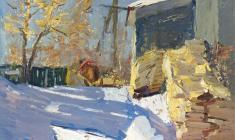 Alexander Semenov. Midday. Oil on cardboard, 69,5х49,5. 1971