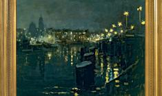Taisia Afonina (1913 - 1994). At the Old Tuchkov Bridge. Oil on canvas, 66х88. 1959. Price on request