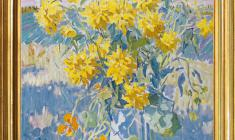 Boris Shamanov (1931 - 2008). September. Yellow Flowers. Oil on canvas, 78 x 66.1991. Price on request