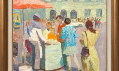 Veniamin Borisov (1935 -2014). Ice-cream Vender. Х.м., 50х60. 1991. Price on request