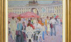 Veniamin Borisov (1935 -2014). At the Palace Square in St`Petersburg. Oil on canvas, 60х80. 1992. Price on request