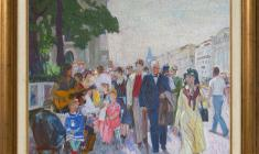 Veniamin Borisov (1935 -2014). Nevsky Prospect. Oil on canvas, 50х60. 1989. Price on request