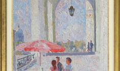 Veniamin Borisov. Winter Palace in Petersburg. Oil on canvas, 55х33. 1992