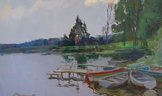 Alexander Semenov. Chikino Lake.  Oil on canvas, 60х80. 1978