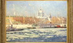 Evgeny Ghuprun (1927 - 2005). Murch on the Neva. Oil on canvas, 60х80. 1993. Price on request