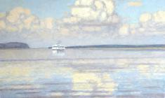 Nikolai Galakhov. Clouds over the Volga. Oil on canvas, 75х95. 1999