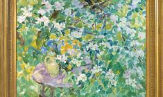 Eugenia Antipova (1917 - 2009). Apple Tree in Bloom. Oil on canvas, 60х78. 1997. Price on request