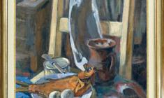 Eugenia Baykova (1907 - 1997). Still-life with a Fish. Oil on canvas, 70х51,5. 1970. Price on request.