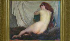 Galina Rumiantseva (1927 - 2004) Naked Model.Oil on canvas,79х96. 1960. Price on request