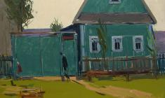 Arseny Semionov. Green House. Oil on cardboard, 35х50. 1963