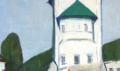 Arseny Semionov. In Ancient Pskov.  Oil on canvas, 64х51. 1968