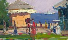 Arseny Semionov.   In Yalta. Oil on cardboard, 35,2х48,8. 1959