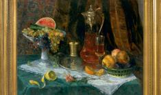 Kapitolina Rumiantseva (1925-2002). Still-life with Fruits. Oil on canvas,  65 x 85. 1965.