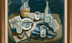 Nikolay Kostrov (1901-1995). Still-life with newspaper. 1929. Oil on canvas, 65 x 85. 1929. Price on request.