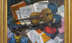 Lev Russov (1926 - 1988). Music and Violin. Oil on canvas, 60х80. 1964. Price on request.