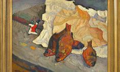 Nikolay Pozdneev (1930 - 1978). Dry Vobla. Oil on canvas, 60х75. 1969. Price on request