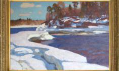 Nikolai Galakhov (b.1928). Nothern Spring. Oil on canvas, 73х98. 1996. Price on request