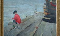 Nikolay Pozdneev (1930 - 1978). Morning. Oil on canvas, 84х117. 1958. Price on request