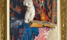 Piotr Vasilyev (1909 - 1989). Still-life with the Book. Oil on canvas, 67х58. 1956. Price on request