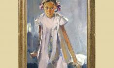 Lev Russov (1926 - 1988). Bows. Oil on canvas, 98х75. 1960. Price on request