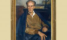 Lev Russov (1926 - 1988). Portrait of Eugeny Mravinsky. Oil on canvas, 95х73. 1957. Price on request
