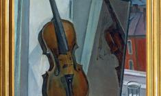 Sergey Osipov (1915 - 1985). Still-life with Violin. Oil on canvas, 70 x 60. 1960. Price on request