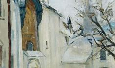 Arseny Semionov.  Saint Sophia Cathedral in Novgorod.  Oil on canvas, 60,5х60,8.,1966