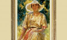 Alexander Samokhvalov (1894 - 1971). Under the Sun. Oil on canvas, 40х31. 1953. Price on request