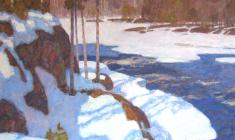 Nikolai Galakhov. Spring in Karelia. Oil on canvas, 80х100. 1999