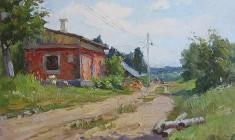 Alexander Semenov. Summer Day. Oil on cardboard, 24,7х34,7. 1951