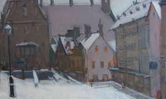 Arseny Semionov. Tallinn.  Oil on canvas, 49х68. 1966