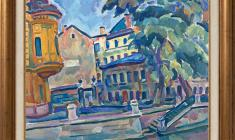 Victor Teterin (1922 - 1991).  Average Podyacheska Street in Leningrad. Oil on canvas, 80х100. 1969. Price on request