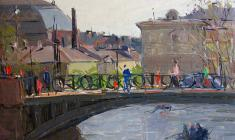 Arseny Semionov. Leningrad Theme. Oil on cardboard, 35х50. 1961
