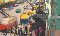 Arseny Semionov. Nevsky Prospect. Oil on cardboard, 75х50,5. 1959