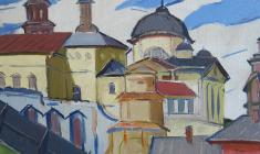 Arseny Semionov. Old Torzhok.  Oil on canvas, 51х63. 1971