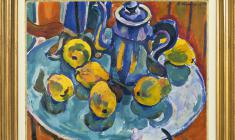 Victor Teterin (1922 - 1991). Quince. 1966. Oil on canvas, 59,5х80. 1966. Price on request