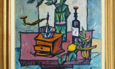 Rostislav Vovkushevsky (1917-2000). Still-life with coffee-mill. Oil on canvas, 81 x 87. 1991. Price on request.