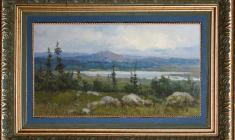 Vsevolod Bazhenov (1909 -1986). In the Altai. Oil on cardboard, 20,2х34,8. 1953.  Price on request