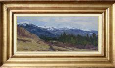 Vsevolod Bazhenov (1909 -1986). Mountains. Oil on cardboard, 14х35. 1958.  Price on request