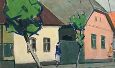 Arseny Semionov. West-Ukrainian Theme.  Oil on canvas, 50х61. 1974