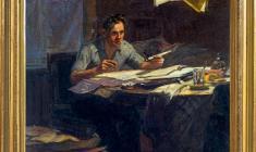 Yuri Belov (b.1929). Worker-innovator. Oil on canvas, 51х45,5. 1954. Price on request.