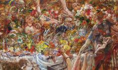 Голгофа. Oil on canvas.100х80.1995. Fr.1