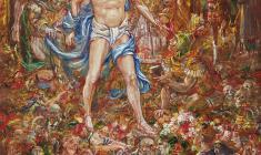 Calvary. Oil on canvas.100х80.1995.