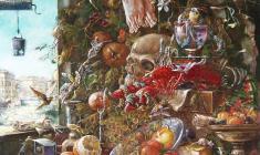 Голгофа. Oil on canvas. 80х60.1994