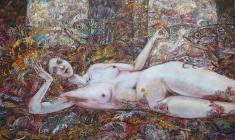 Danae.Oil on canvas.50х70.2002