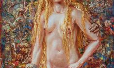 Eve. Oil on canvas.76х56.1994