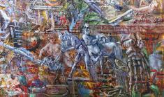 Expulsion from Paradise. Oil on canvas.170х73. 2005. Fr.2