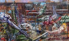 Expulsion from Paradise. Oil on canvas.170х73. 2005. Fr.3
